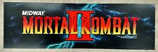 "Vintage ""Mortal Kombat II"" Arcade Video Game Marquee by Midway"