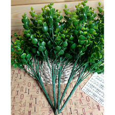 7-Branches Artificial Fake Floral Plastic Eucalyptus Plant Flowers Cafe Decor