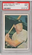 1978 TCMA The 1960's #262 - MICKEY MANTLE - PSA 9 Mint - New York Yankees