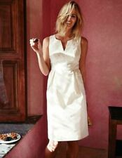 NEW ORG $148 BODEN TEXTURED COTTON EMBROIDERY WHITE ADA DRESS WH657 -SIZE US 16R
