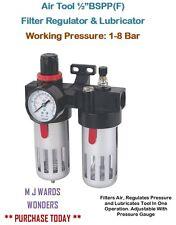 """Herramienta De Aire 1/2 """"BSPP (F) Filtro Regulador Lubricador & - presión de trabajo: 1-8 Bar"""