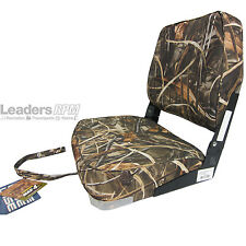 Wise New Fishing Boat Seat Chair WETLANDS CAMO Composite Base/Bottom Fold Down