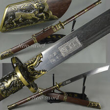 HIGH QUALITY CHINESE SWORD QING DYNASTY SWORD 康熙战刀 FOLDED STEEL BLADE SABER GIFT