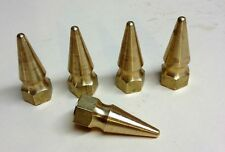 """5 SOLID BRASS SPIKE NUTS 5/16""""-18 Harley had chopper bobber cafe pike 5/16 18"""