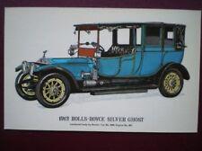 POSTCARD CAR 1912 ROLLS ROYCE SILVER GHOST CAR