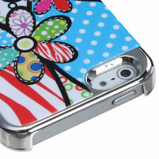iPhone 5 5S SE Ultra Slim MyDual HARD Phone Case Back Cover Patch Work Flowers