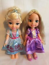 Disney Princess Toddler Doll, Cinderella & Rapunzel Tangled Toy Doll Bundle