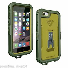 Armor-X Wasserdichte Outdoor Waterproof Protection Case for iPhone 6S 6 in green