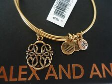 Alex and Ani PATH OF LIFE IV Russian Gold Charm Bangle New W/Tag Card & Box