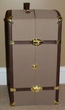 Metal Doll Travel/Steamer Trunk 3 Drawers 2 shelves wardrobe American Girl type