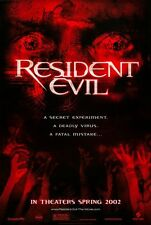 "Resident Evil movie poster : 11"" x 17"" : Milla Jovovich, Michelle Rodriguez"