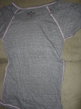 TRIBLEND SCOOP NECK WITH CONTRAST GREY HEATHER WITH PINK  BLANK