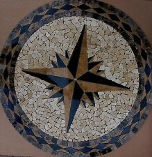 "Marble Travertine Tile Medallion mosaic  Stone 32""  #5"