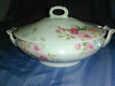 Vintage Thomas Sevres Bavaria Soup Tureen with lid pink roses gold trim