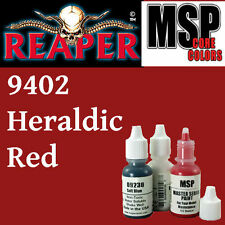HERALDIC RED 9402 - MSP 15ml 1/2oz paint pot peinture figurine REAPER MINIATURE