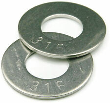 316 Stainless Steel Flat Washer #10, Qty 250