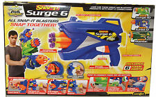 Snap It Surge 6 Toy Rotating 6 Dart Shooting Gun - Includes 6 Foam Darts