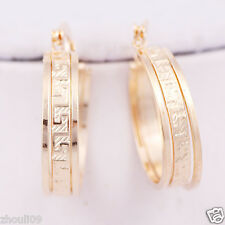 gorgeous 9k Yellow Gold Filled Elegant Ear Stud dangle hoop Earrings e525