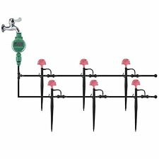 Garden Irrigation System Home Yard Watering Spikes Sprinklers Controller set