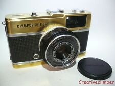 Very Rare Brass & Black Serviced March 1970 Olympus Trip 35 35mm Film Camera