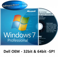 Windows 7 Professional 64bit - 32bit Full Version OEM DVD and LICENSE
