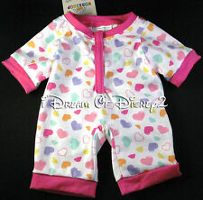 CANDY HEARTS ONE-PIECE SLEEPER BUILD-A-BEAR TEDDY SIZE PAJAMAS CLOTHES NEW