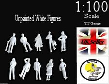 1:100 Scale Architecture Model White Figures People TT Gauge- Unpainted  Pack 50