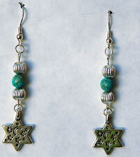 Silver & Turquoise Celestial Earrings by Slave Violet Jewelry USA MADE