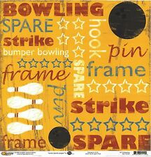 SSM -  Bowling Star Yellow Scrapbooking Paper - Double Sided - 1114