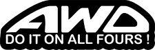 AWD Do it on all Fours Sticker Decal Vinyl JDM Subaru WRX STI Impreza Evo