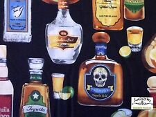 RK117 Tequila Alcohol Liquor Fancy Margarita Mexican Lime Quilting Cotton Fabric