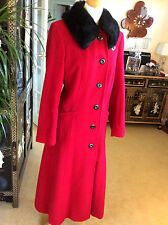 SIZE 18 COAT, STUNNING  RED AND BLACK WINTER COAT FROM WINDSMOORE RRP £299