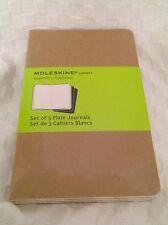 Moleskine Set of 3 Plain Cashiers Journals mini 3 x 5 64 pages Pocket
