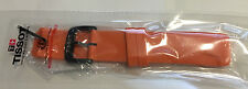 Original Tissot T-Race Touch Orange Strap Watch Band w/ Buckle for T081420A
