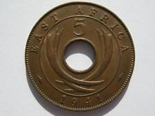 Afrique de l'Est 1941 bronze 5 cents, GVF lustre.