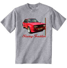 FIAT 131 MIRAFIORI ABARTH INSPIRED - NEW COTTON GREY TSHIRT - ALL SIZES IN STOCK