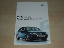 51284) VW Passat + Variant BlueMotion Prospekt 05/2007