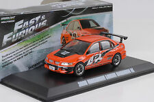 2006 Mitshubishi Lancer Evo IX Movie Fast & and Furious Tokio 1:43 Greenlight