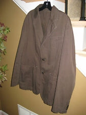 MEXX MEN'S CHOCOLATE BROWN BLAZER BARN JACKET CASUAL COAT SIZE US 42 SPAIN