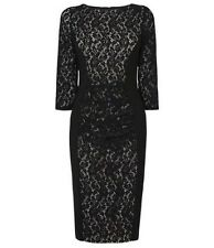 BNWT Phase Eight /8 Black Stephania Lace Dress Size 14