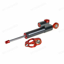 Titanium ,Universal Motorcycle Adjustable Steering Damper Stabilizer,70mm Stroke