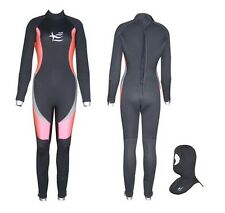 6mm Scuba Diving Semi Dry Ladies Wetsuit  + Dive Hood