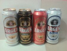 Lot od 4 empty Argus Beer Cans; 500 ml/16.9 fl oz; BOTTOM opened (Poland)