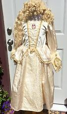 DISNEY PIRATES CARIBBEAN ELIZABETH SWANN SWAN WEDDING DRESS COSTUME GIRLS L 8 10