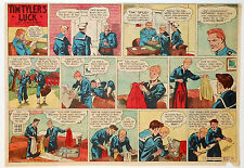 Tim Tyler's Luck by Young - WWII - half-page color Sunday comic - May 23, 1943
