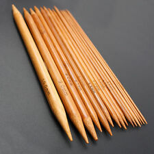 "75 x 8"" 20cm Knitting Needles Bamboo  Carbonized Double Point 2-10mm 5 X 15Sizes"