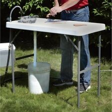 NEW! Fish Cleaning Table Folding Portable Faucet Camp Game Hunt Filet Sink SAVE!