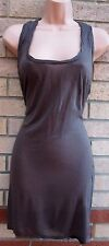 WAREHOUSE INK TAUPE BAGGY RUCHED BACK TUNIC CAMI LONG TOP T SHIRT CAMI BLOUSE 12