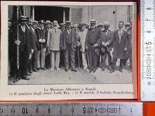 GDN1932/ 10 WW1 La missione Albanese a Napoli, Ministro degli esteri Lofti Bey