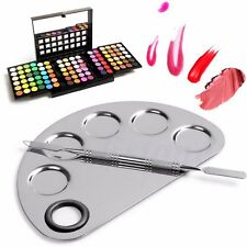 Nail Art Makeup Cosmetic Artist Watercolor Stainless Paint Mixing Palette Tray